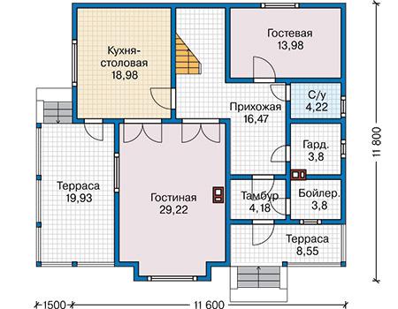 План первого этажа - проект Дорсет