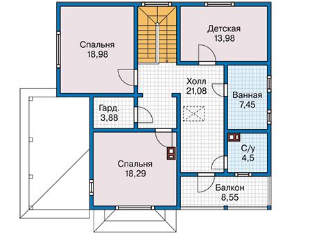 План второго этажа - проект Дорсет