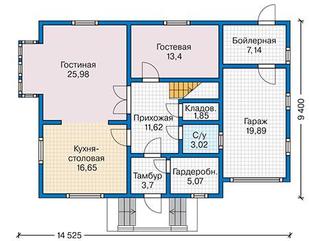 План первого этажа - проект Исамаль