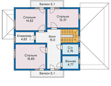 План второго этажа - проект Исамаль