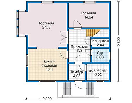 План первого этажа - проект Дьёр