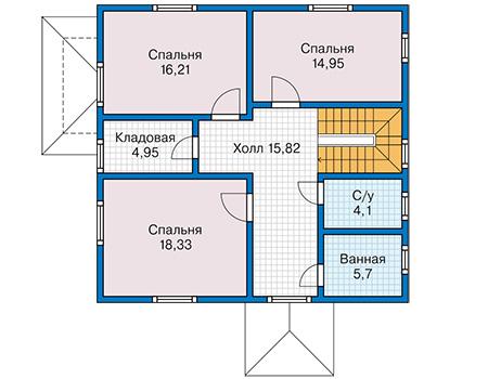 План второго этажа - проект Дьёр