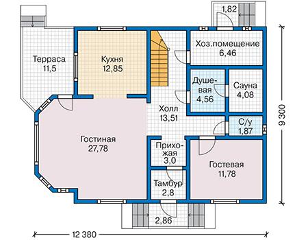 План первого этажа - проект Кемпер