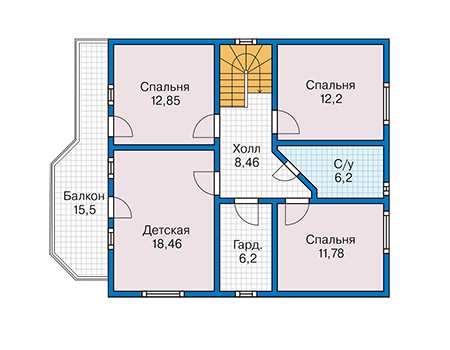 План второго этажа - проект Кемпер
