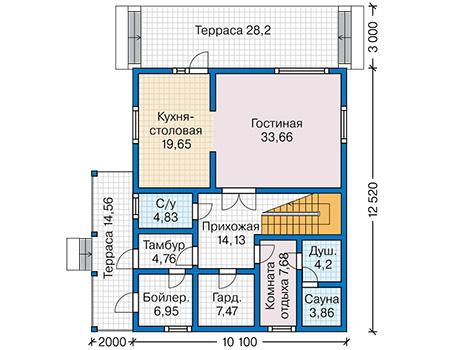 План первого этажа - проект Дранси