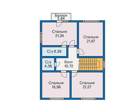 План второго этажа - проект Дранси