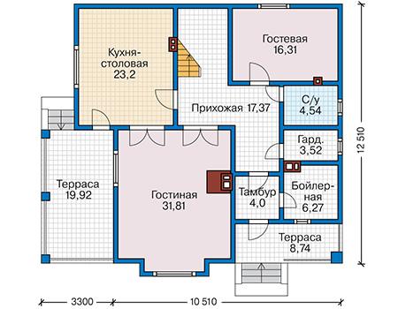 План первого этажа - проект Драгер