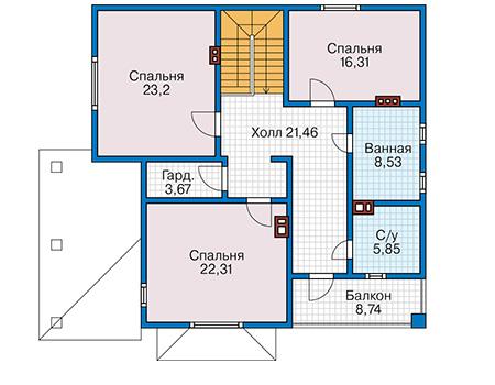 План второго этажа - проект Драгер