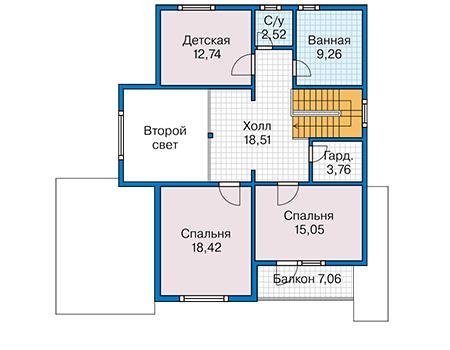 План второго этажа - проект Тулон