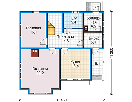 План первого этажа - проект Золинген