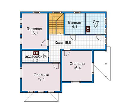 План второго этажа - проект Золинген