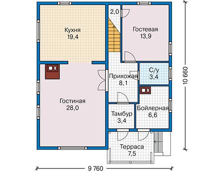 План первого этажа - проект Дадли