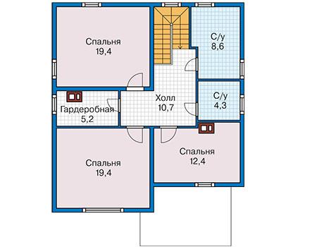 План второго этажа - проект Дадли