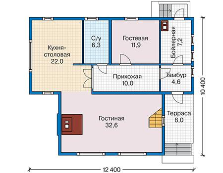План первого этажа - проект Туам