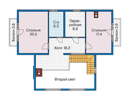 План второго этажа - проект Туам