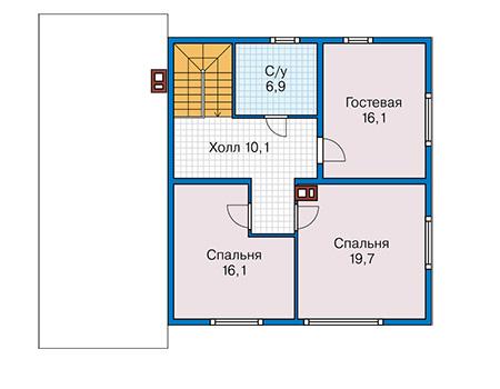 План второго этажа - проект Дром
