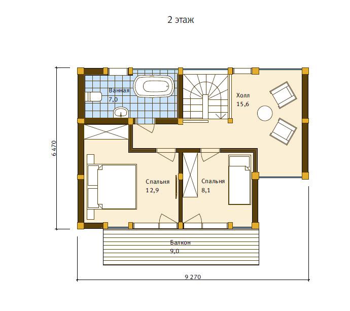 План второго этажа - проект Бохум