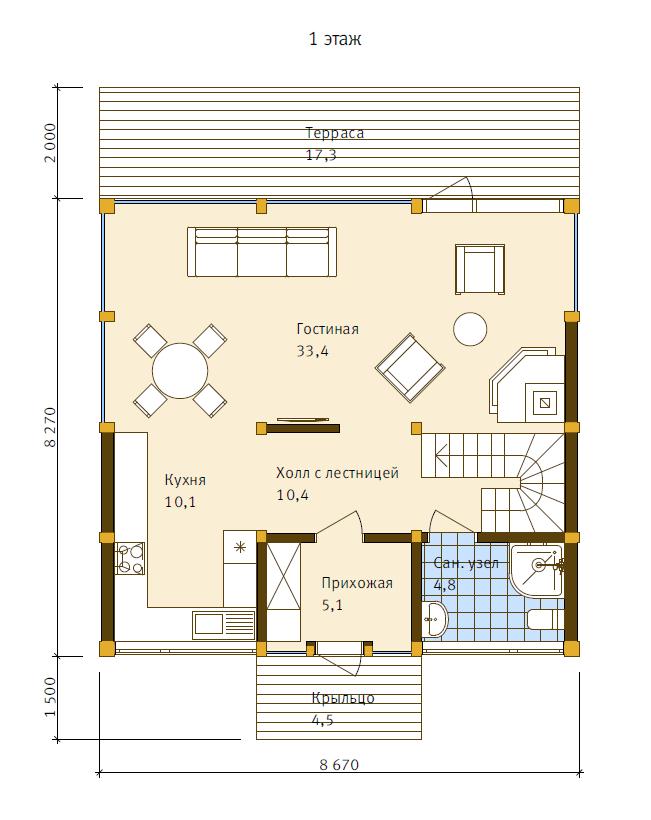 План первого этажа - проект Нойс