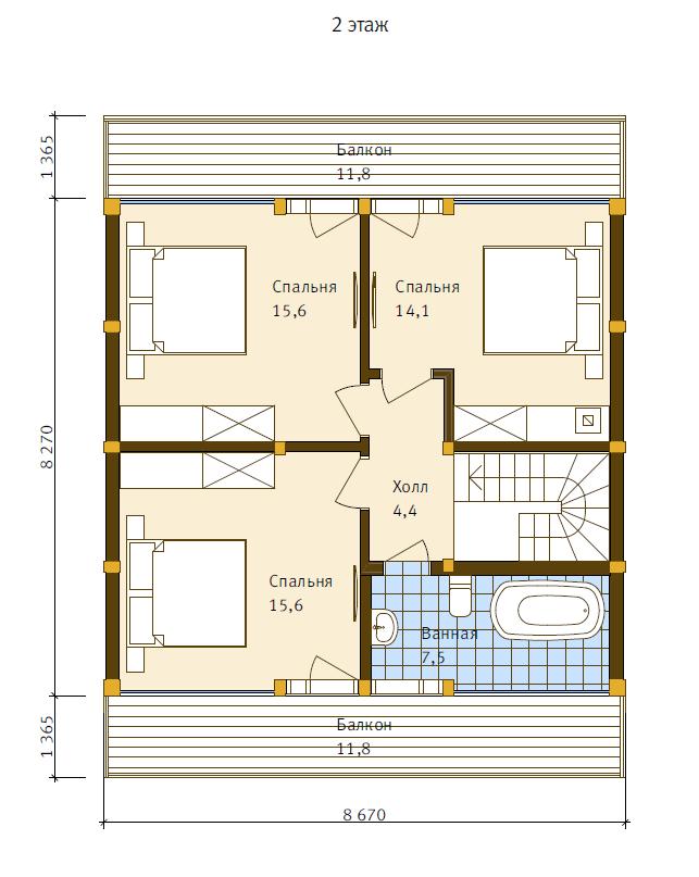 План второго этажа - проект Нойс