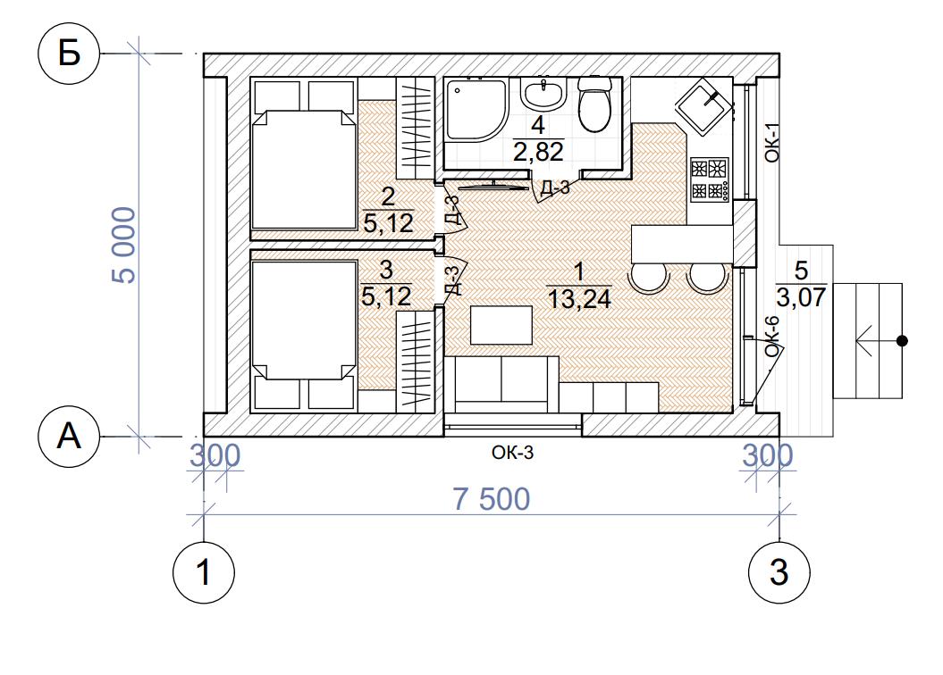 План первого этажа - проект Сомеро