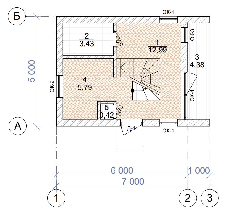 План первого этажа - проект Пори