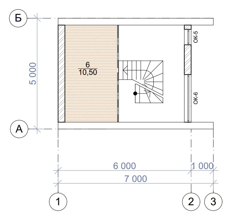 План второго этажа - проект Пори
