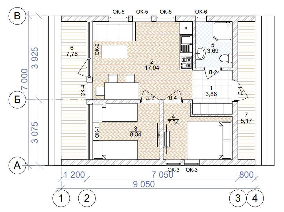 План первого этажа - проект Ханко