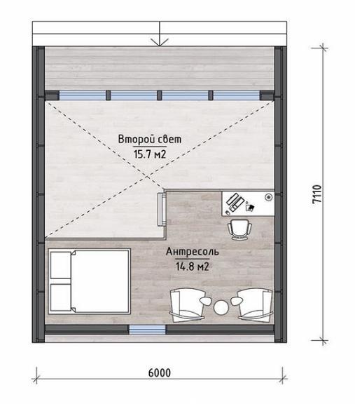 План второго этажа - проект Норидж