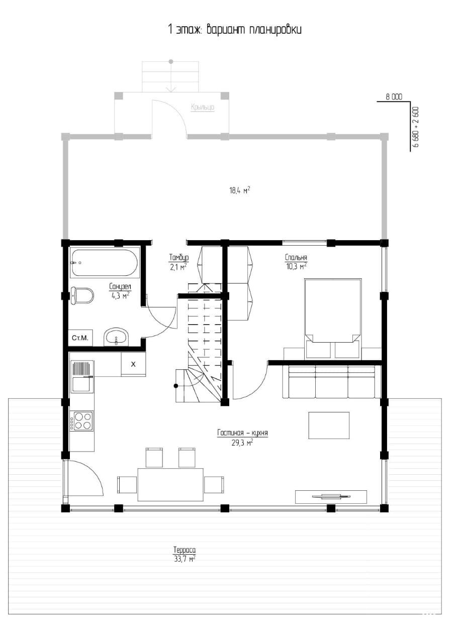 План первого этажа - проект Ахен