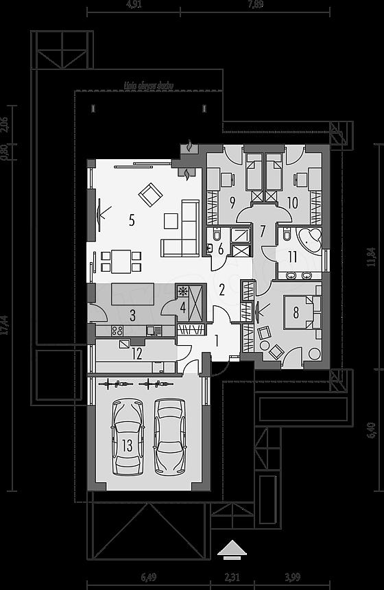 План первого этажа - проект Хемниц