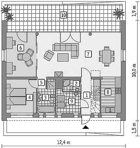 План первого этажа - проект Штаде